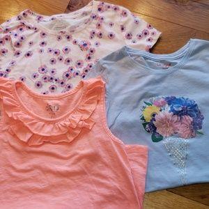 Bundle Girl's Shirts Size 7/8